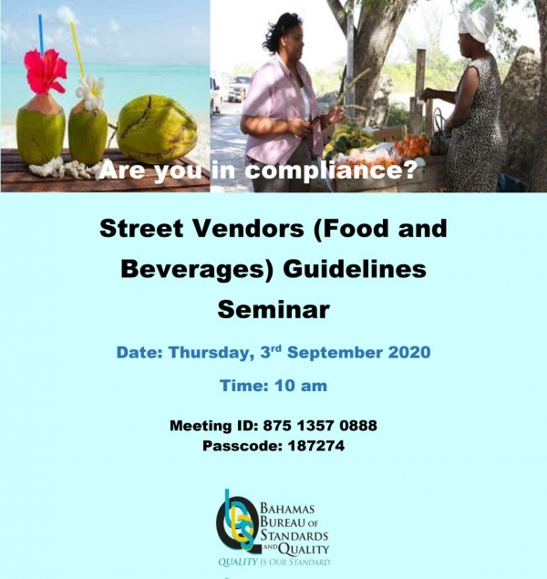 ZOOM Meeting: Food Vendors Seminar - September 3, 2020