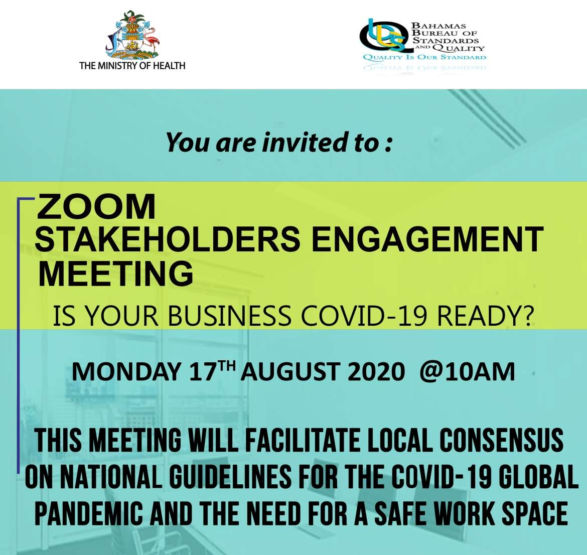 Workplace Guidelines and Assessment: Stakeholder Engagement Meeting August 17, 2020